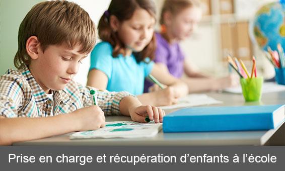 Prise en charge et récupération d'enfants à l'école